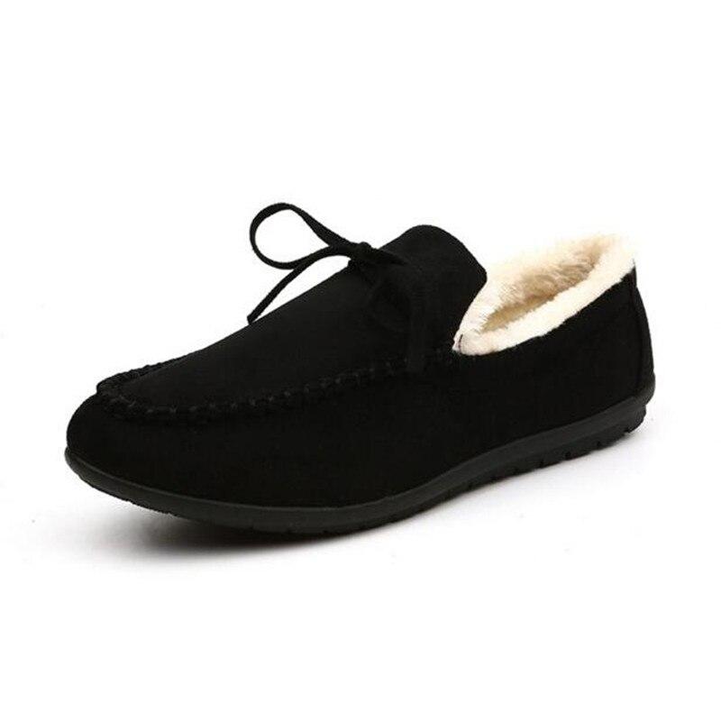 Terciopelo Casuales Zapatos Cálido Tobillo Trabajando red Los De Nieve Aire blue 2019 Hombres Libre Oxfords Al Invierno Black wxRq0XRY8