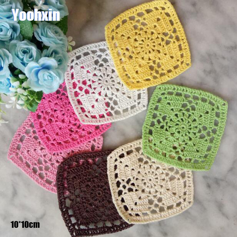 Luxury Round Handmade Lace cotton table place mat pad Cloth crochet placemat cup mug tablecloth tea coaster dining doily kitchen
