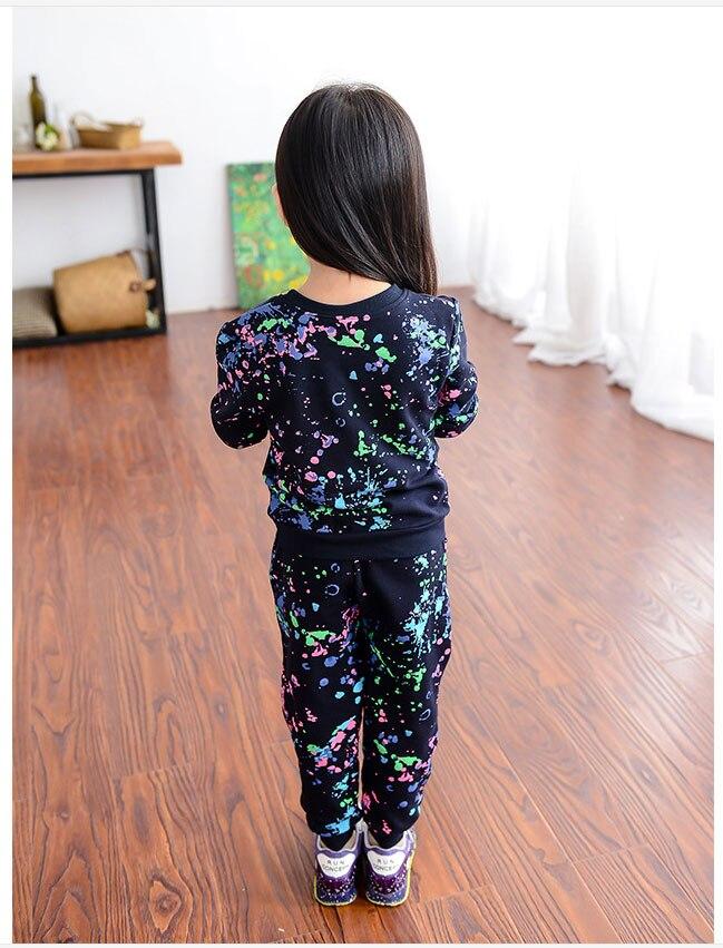 63dedf62fbba7 Automne enfants Sweat costumes lettre enfants marque Jogging costumes  filles Sport costume enfant en bas âge fille tenues filles Boutique  vêtements costumes ...