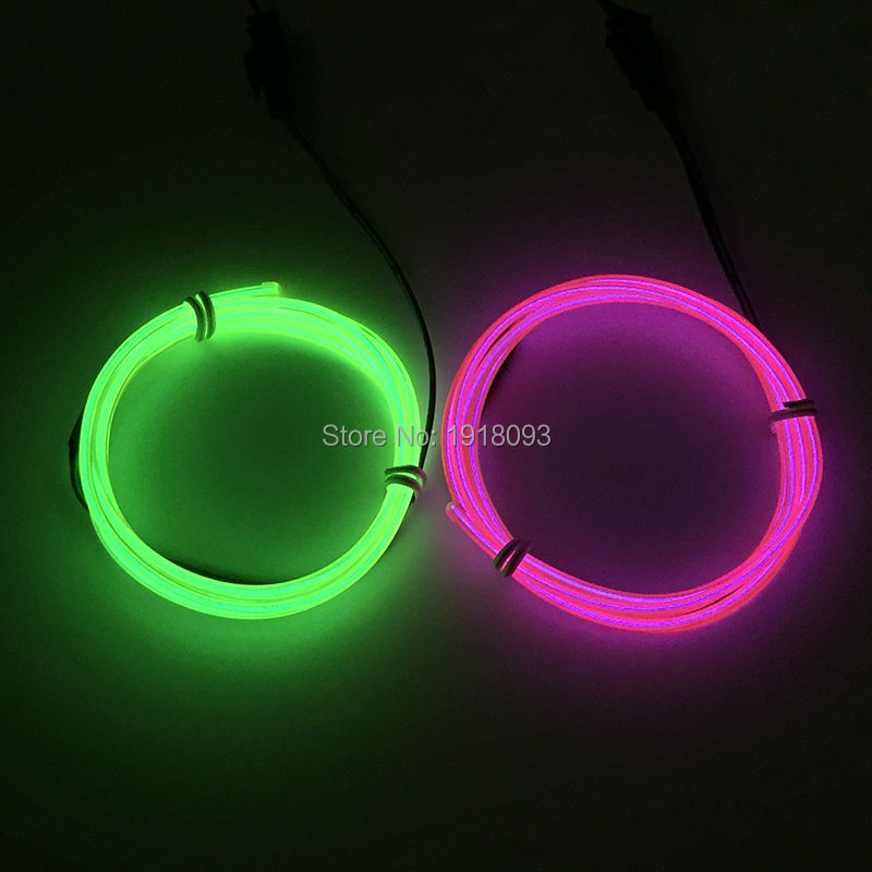 Cheap!High-grade 2.3mm 1M 2pieces Offer 360 degrees lighting LED neon rope tube Cold light Party,Wedding ,Christmas Supplies