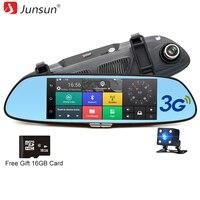 Junsun 7 Android 3G Car GPS Camera DVR Free 16GB SD Card Bluetooth Dual Lens Rearview