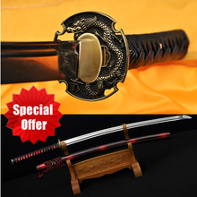 Special Offer Japanese Samurai Handmade Katana Sword Real Spring 1095 Steel Full Tang Blade Dragon Tsuba  Katanas Sale Sharp41″