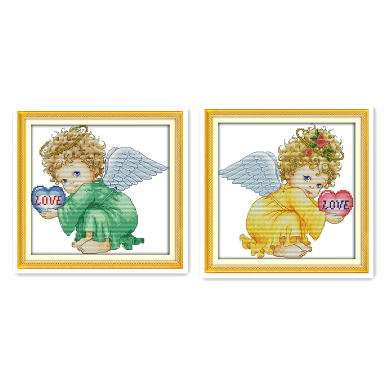 Cute little angel baby baby girl handmade diy embroidery cross stitch suite 11CT 14CT sewing small simple decorative painting