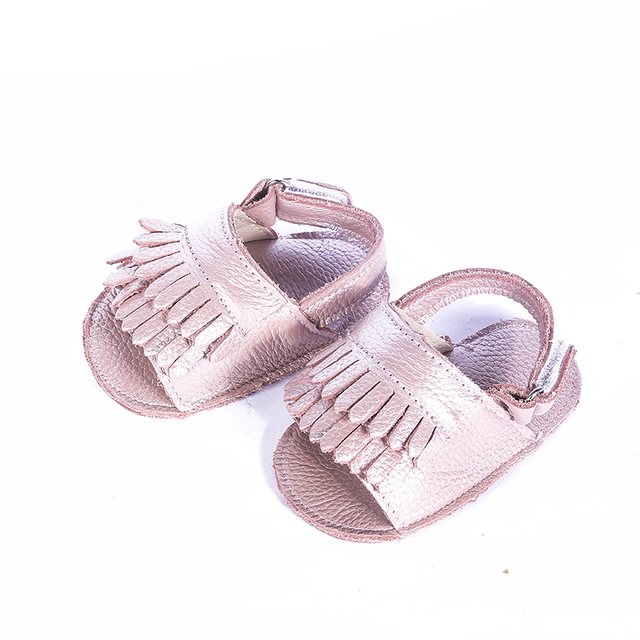 Wholesale Genuine leather Baby girls Sandals Tassel Baby moccasins Hollow out Toddler Baby girls Shoes Free shipping