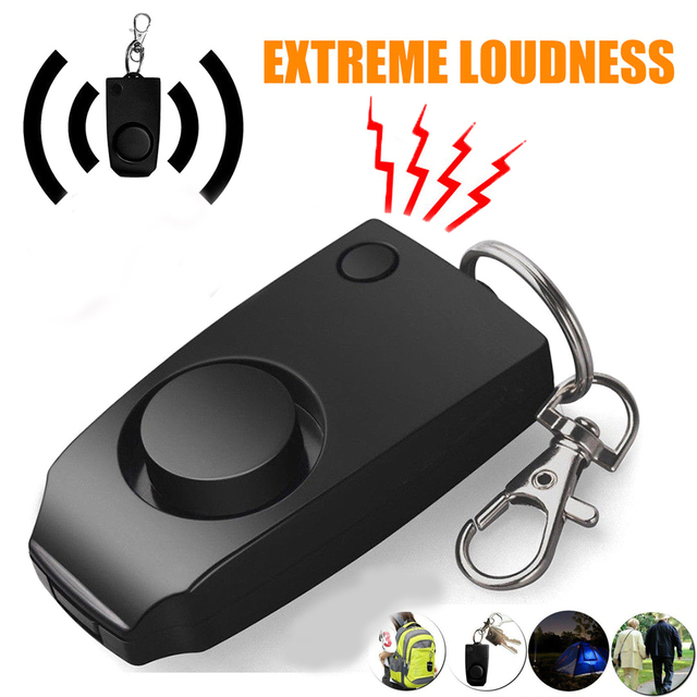 120dB Loud Emergency Personal Wolf Alarm KeyChain Anti Rape Kids Elderly Womens
