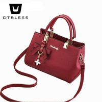 DTBLESS 2018 New Europe Fashion Trend Bag Women Handbag Fashion Shoulder Bag Crossbody Bow Butterfly Female