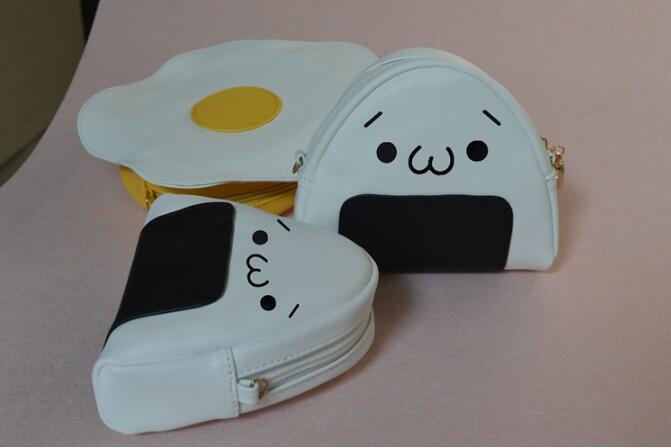 New Creative 3D Fried Egg Messenger Bag Lovely Lolita Mini Shoulder Bags PU Cute Women Crossbody Bags
