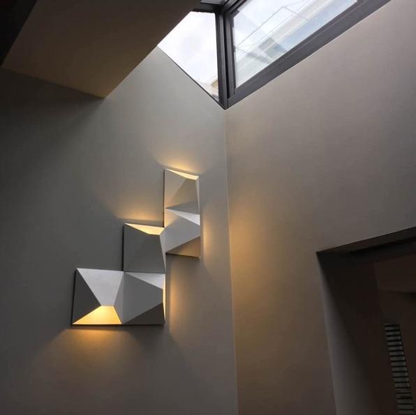 LED Moderne Géométrique Fer Acrylique Noir Blanc BRICOLAGE Bo te