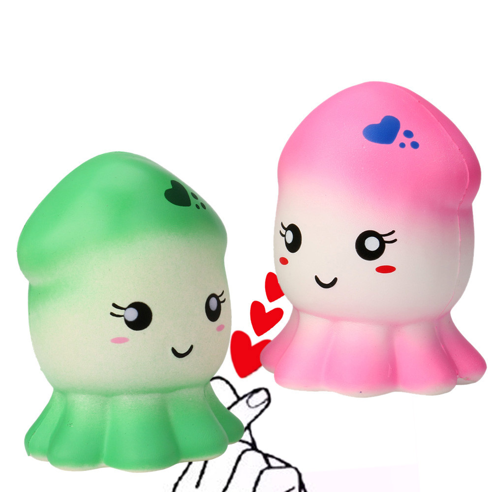 Squishy Kawaii Jumbo Slow Rising Squid Fun Toys Slow Rising Antistress Animal Ball Funny Home Decor Squishi Stress Relief JA17b
