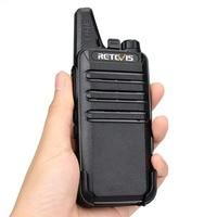 מכשיר הקשר 2pcs מיני מכשיר הקשר Retevis RT22 2W UHF 400-480MHz VOX סריקה CTCSS / DCS מכסים נגד אבק Ham Radio Hf משדר Handy 2 רדיו דרך (2)