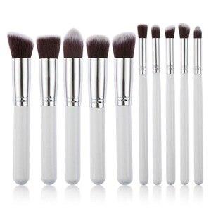 Image 4 - Professionele 10 Stuks Make Up Borstel Sets Gereedschap Cosmetische Borstel Foundation Oogschaduw Eyeliner Lip Poeder Borstel Pinceau Maquillage