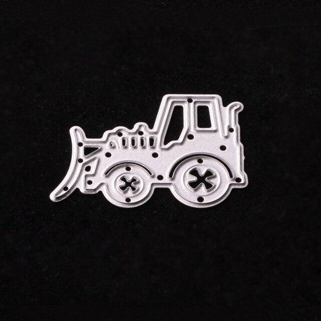 Traktor Metall Stanzformen Schablonen Fur Diy Scrapbooking Prage