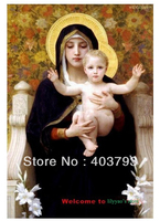 The Virgin of the Lilies William Bouguereau repro oil paintings on canvas free shipping