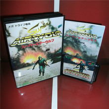 Super Airwolf Japan Cover with Box and Manual For Sega Megadrive Genesis Video Game Console 16 bit MD card