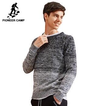 af7e84d71e4 Пионерский лагерь новый мужской свитер брендовая одежда модный вязаный  свитер пуловер мужской качество 100% хлопок осень-зима AMS702429