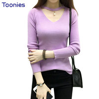 New Fashion Autumn Women Sweaters And Pullovers Beading V Neck Stretch Slim Oversized Pullover Sweater Knitted