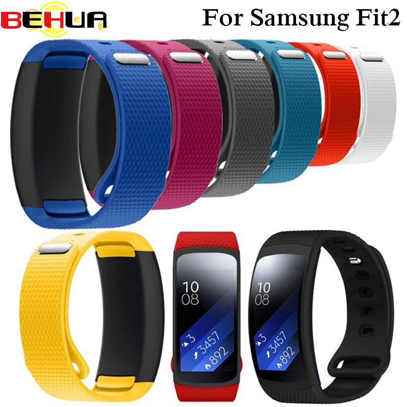 Wristband Luxury Sport Silicone Watch Replacement Band Wrist Strap Watchband For Samsung Gear Fit 2 Fit2 SM-R360 Smartwatch S L