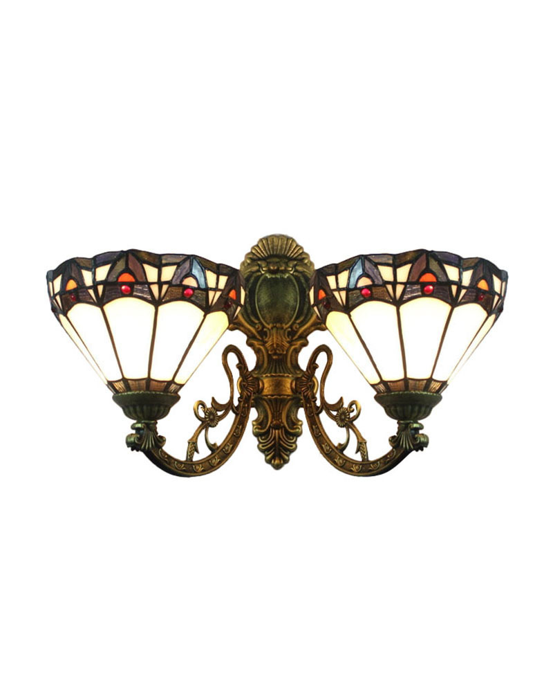 Dhl free ship wall lamps tiffany style no8s10002 upward wall dhl free ship wall lamps tiffany style no8s10002 upward wall sconces stained glass meditteranean with 2light home hallway in wall lamps from lights amipublicfo Gallery