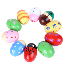 1pc Hot Sale Wooden Sand Eggs Instruments Percussion Musical Toys For Children Kids Education Toy Sent By Random