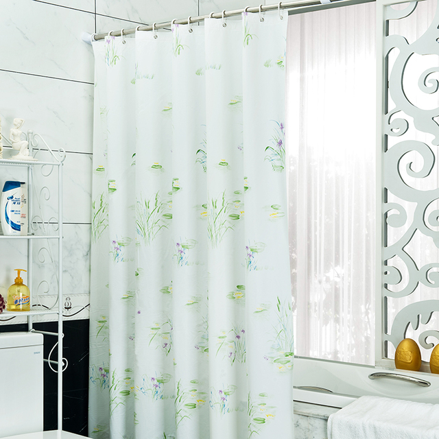 grne pflanze duschvorhang peva stoff vorhang fr das bad modernes bad bildschirm dusche zimmer produkt - Stoff Vorhang Dusche