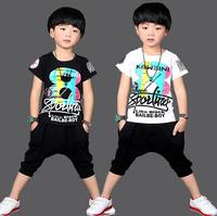 Short Sleeve Clothes For Boys Fashion Summer Kids Clothing Handsome Print Ensemble Garcon Carnival Costumes For