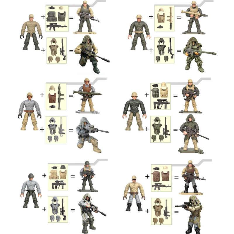 Экшн Современные Военные фигурки PUBG mega soldiers minifigs строительный блок с Ghillie костюм оружие Кирпичи игрушки для мальчиков