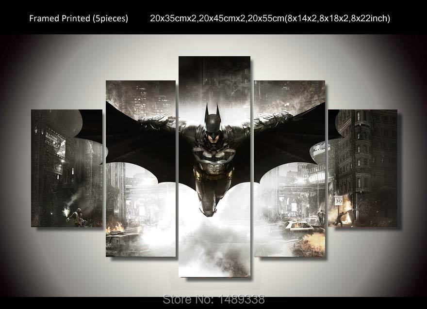 Framed Printed Batman Movie Poster 5 piece painting wall art ...