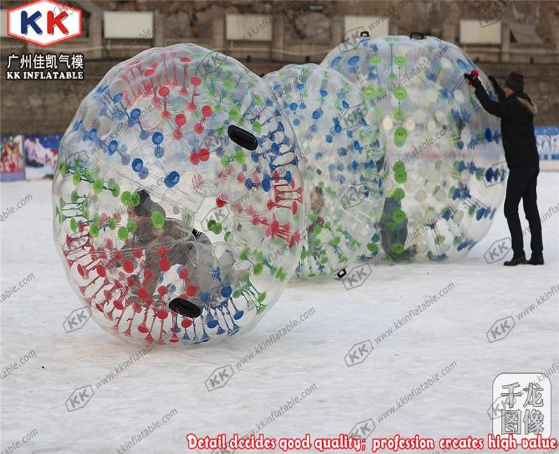 Location de boule de Zorb gonflable rougeoyante de corps de boule de Zorb de 3 m Dia
