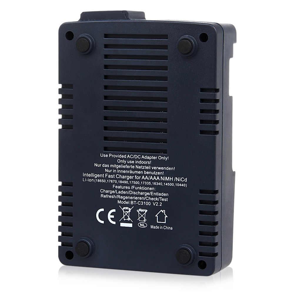 الأصلي أوبوس BT-C3100 V2.2 الرقمية ذكي 4 فتحات LCD شاحن بطارية LCD شاشة ليثيوم أيون البلى نيمه شواحن بطاريات