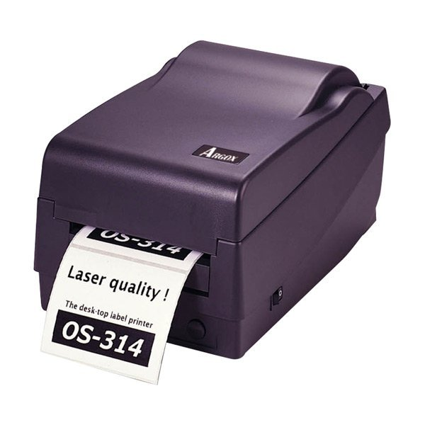 Argox printer for adhesive sticker label barcode printer 104mm printing Width 300DPI OS-314TT