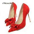 plardin Bowtie Party Pumps Women Wedding Pumps Victoria Shoes Woman 2017 Women's Color Sweet  Bridal High Heels