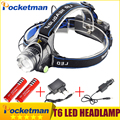 cree headlight led headlamp xm l t6  waterproof zoom head lamp 18650 rechargeable battery flashlight head torch Lights