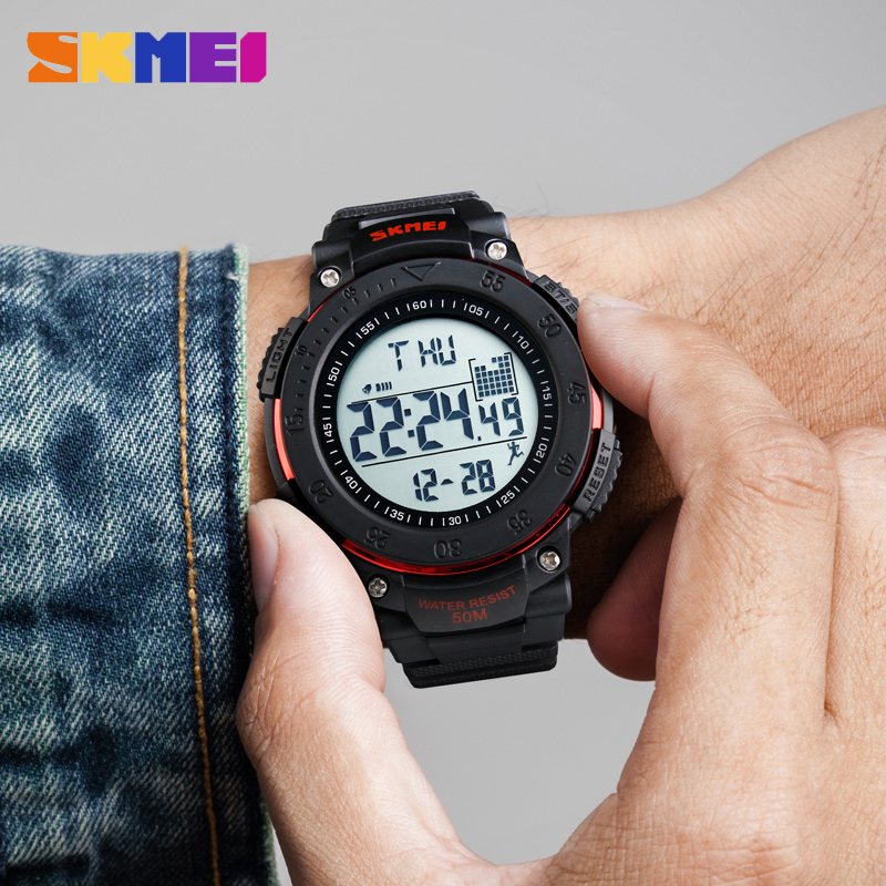 Fashion Relogio Masculino Watches Men Outdoor Sports Watch Fashion Waterproof Digit Wristwatch Pedometer Timekeeping Mens Clock image