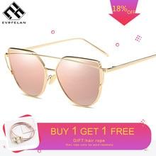 a94b2a0a79 Evrfelan marca gafas de sol para mujer gafas de ojo de gato gafas de sol  hombre espejo gafas de sol hombre gafas mujer Vintage o.