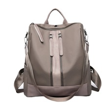 Litthing PU Leather Women Backpack Casual School For Teenager Girl Large Capacity Multifunction Drop shipping