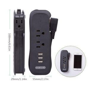 Image 3 - Ciabatta da viaggio NTONPOWER con presa piatta elettrica USB US Mini ricarica da tavolo con prolunga da 15 pollici per nave da crociera