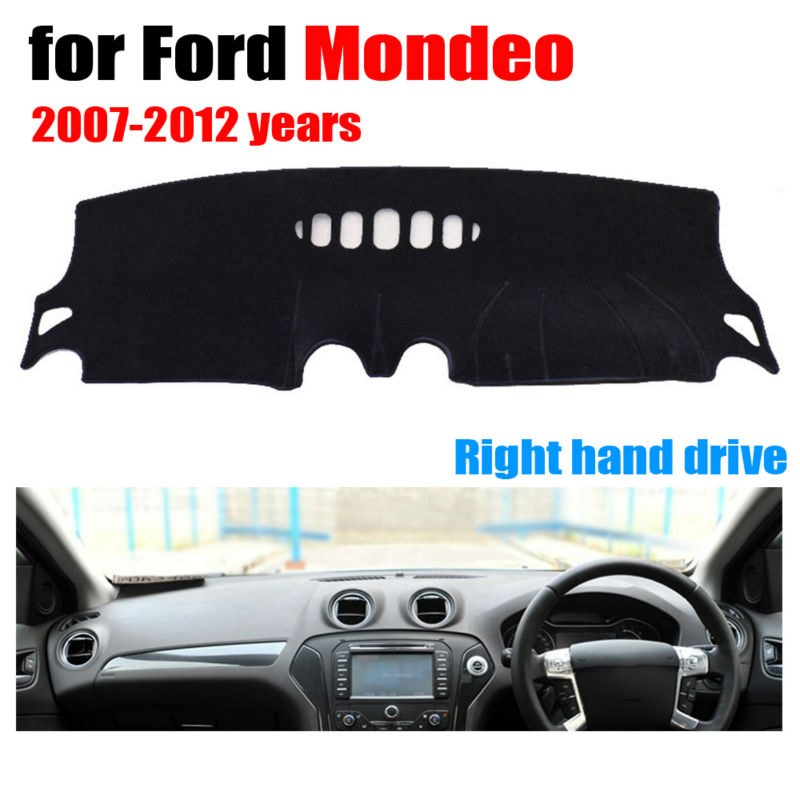 Car dashboard covers mat for Ford Mondeo 2007-2012 years Right hand drive dashmat pad dash cover auto dashboard accessories