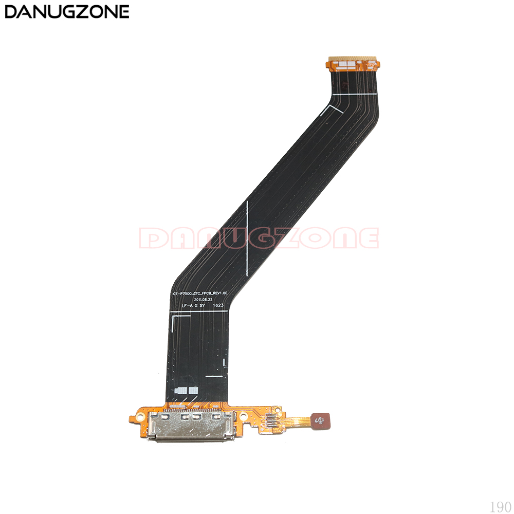USB Charging Port Connector Charge Dock Socket Jack Plug Flex Cable For <font><b>Samsung</b></font> Galaxy Tab 10.1 P7500 <font><b>GT</b></font>-P7500 <font><b>P7510</b></font> image