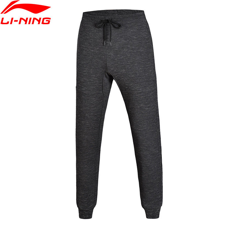 Li-Ning Men Pants Wade Series Sweat Pants Regular Fit 51% Cotton 49%Polyester Li Ning Sports Pants AKLM681 alzenit oem new for hp designjet dj 9000s trailing cable q6665 60046 plotter printer parts