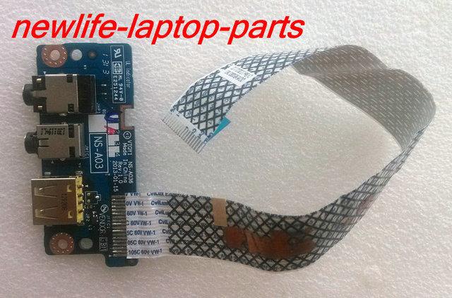 USB placa de áudio original para Y510P VIQY1 NS-A036 bom teste frete grátis