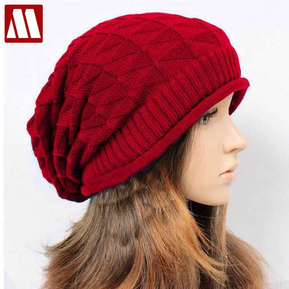 30ef8358b4adb 2018 New Autumn toca gorros beanie winter Knitting Wool Hat Casual Unisex Caps  Man s and women s
