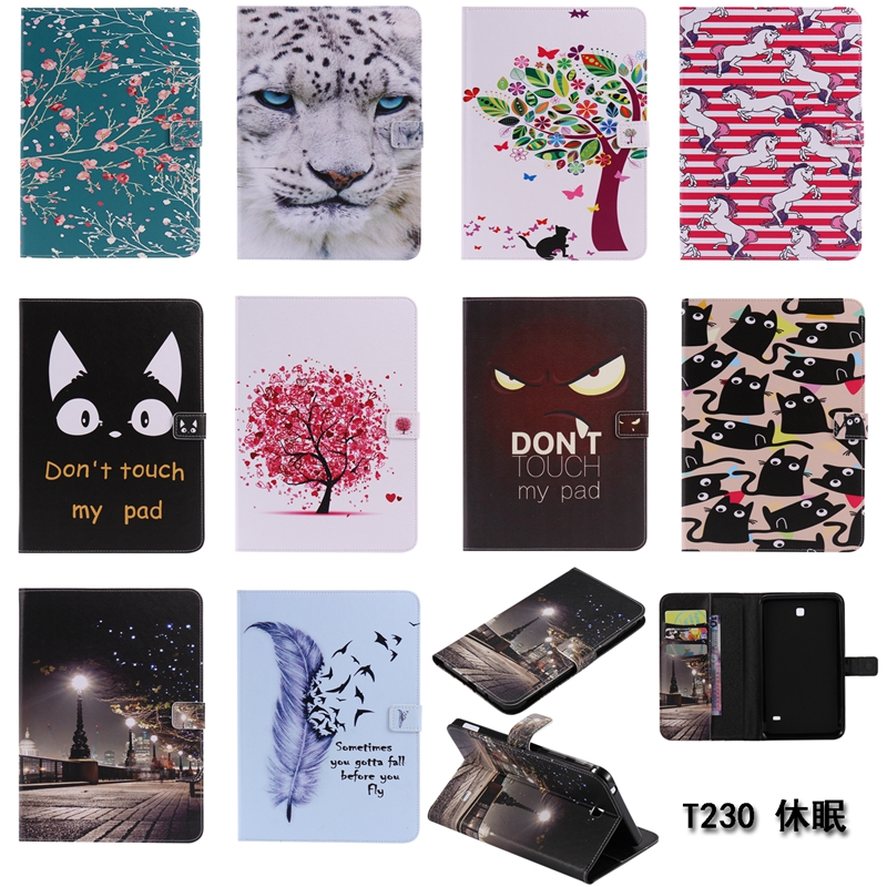 sFor Samsung Galaxy Tab 4 7.0 Case T230 T231 T235 SM-T230 Tablet Case Flip PU Leather Stand Book Cover Case For Samsung T230 2017 hot smart flip tab4 t230 case pu leather stand flip case cover for samsung galaxy tab 4 7 0 t231 t230nu t235 stylus free