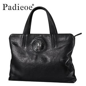 Padieoe men bag briefcase leat