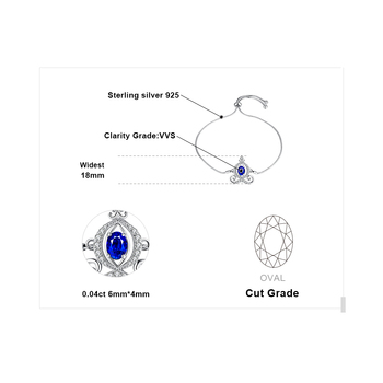 Carriage Created Sapphire Bolo Sterling Silver Gemstones Bracelet 4