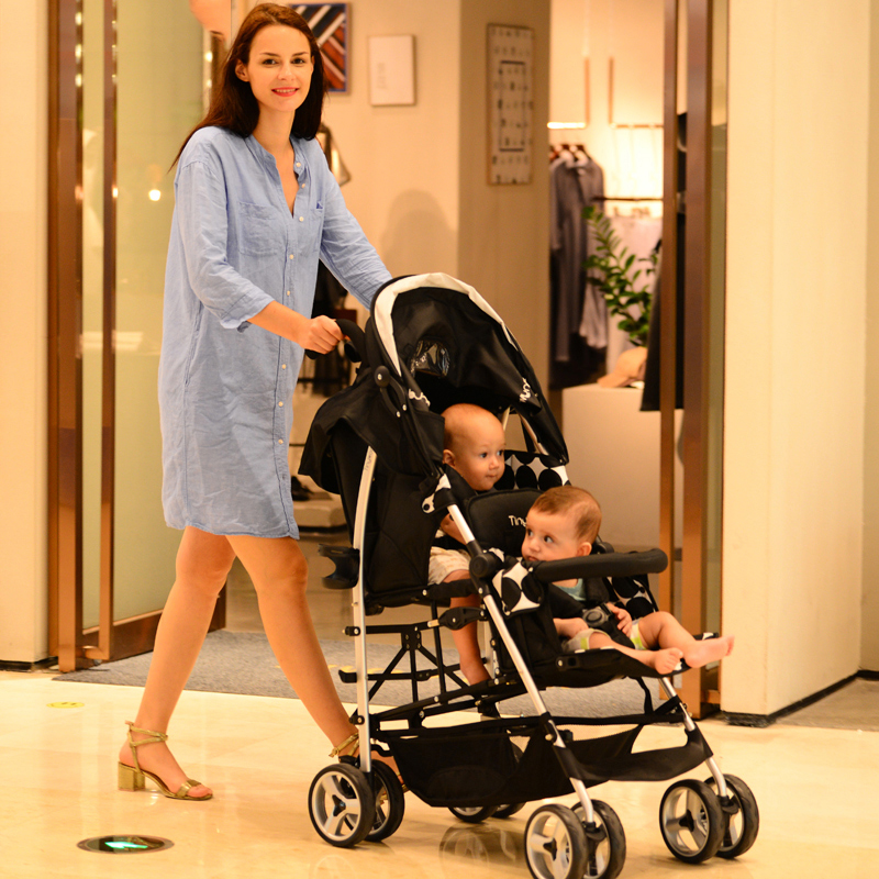 Twin baby stroller double compatible older children younger child stroller light twin stroller baby stroller can sit