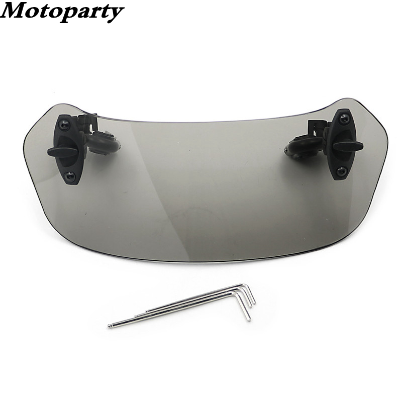 Moto Heightening windshield double bracket universal Bracket width 210MM Adjustable For Honda BMW F800 R1200GS KAWASAKI