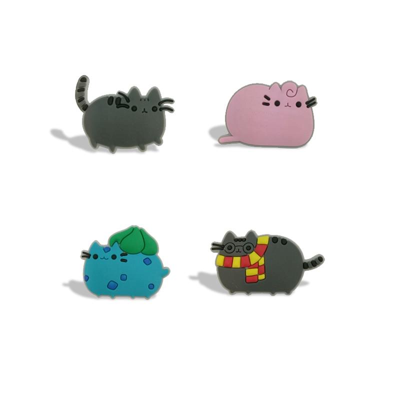 4pcs/set PVC Magnetic Pusheen Cartoon Fridge Blackboard Magnets Stationery Stickers For Office Supplies Kids Favors Gift