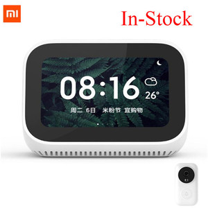 Image 1 - In Stock Xiaomi AI Touch Screen Bluetooth 5.0 Speaker Digital Display Alarm Clock WiFi Smart Connection Speaker Mi speaker