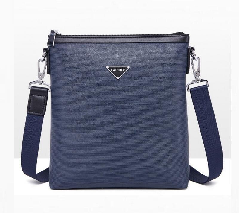 ФОТО New Design Men Messenger Bag Top PU Leather Men's Fashion Crossbody Bag Casual Shoulder Bag Vintage Travel  JIE-052