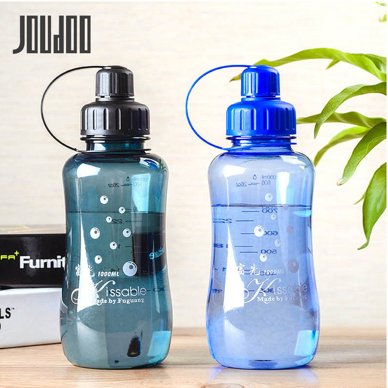 JOUDOO Large Capacity 1L 1.5L 2L Plastic Water Bottle for Outdoor Sports Travel Hiking Climbing Bottle With mesh filter 35
